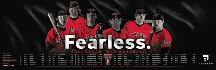 Texas Tech Baseball Poster (2014)