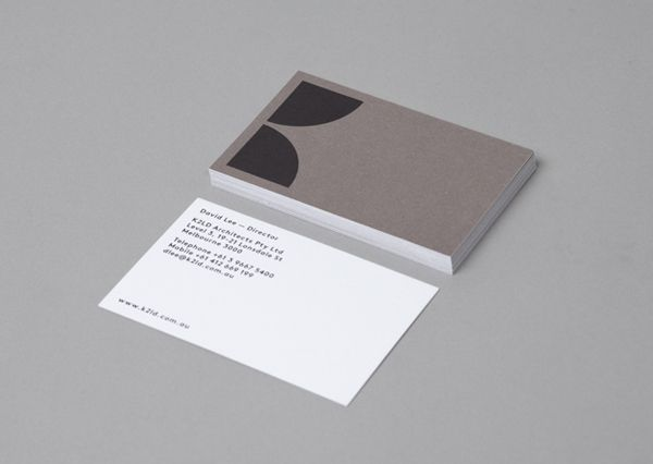 Logo and business card design by Hi Ho for Melbourne-based architecture and interior design firm K2LD