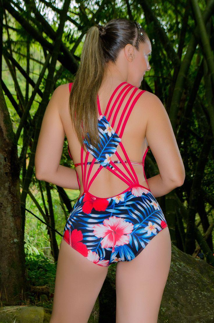 TULIPAN 10 Vestido de baño 1 piezas Trikini en panty, brasilera