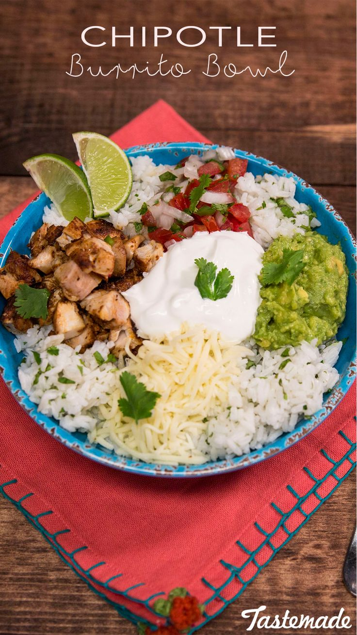 Save your precious time and money by making a burrito bowl at home.