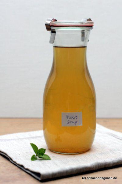 Schöner Tag noch! Food-Blog mit leckeren Rezepten für jeden Tag: Selbstgemachter Pfefferminz-Sirup und ein alkoholfreier Drink