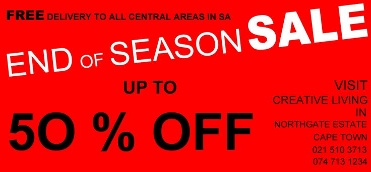 End of Season sales