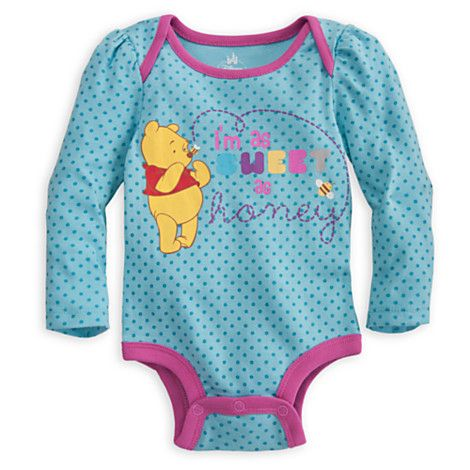 Winnie The Pooh Disney Cuddly Bodysuit For Baby Clothes