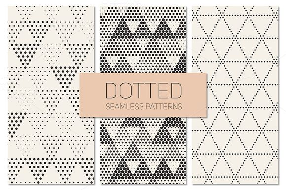 Dotted Seamless Patterns. Set 7 by Curly_Pat on Creative Market