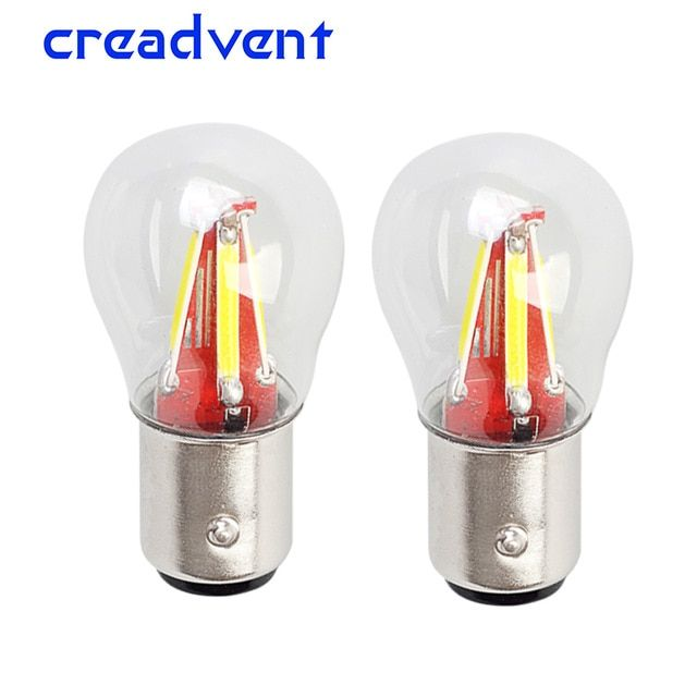 2pcs 4 Filament Super Bright Led 1157 Bay15d P21w 5w Car Brake Light Bulb Auto Vehicle Lamp Yellow Red White Car Accessories 12v Review Car Lights