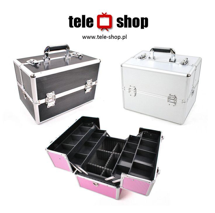 http://tele-shop.pl/ KUFEREK KOSMETYCZNY. Doskonały, bardzo pojemny kuferek na kosmetyki, biżuterię lub inne drobiazgi.