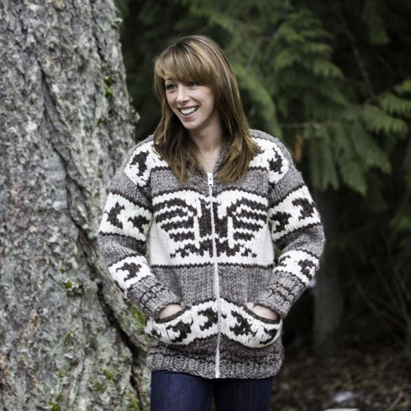 Cowichan Sweater With Pockets from Amos