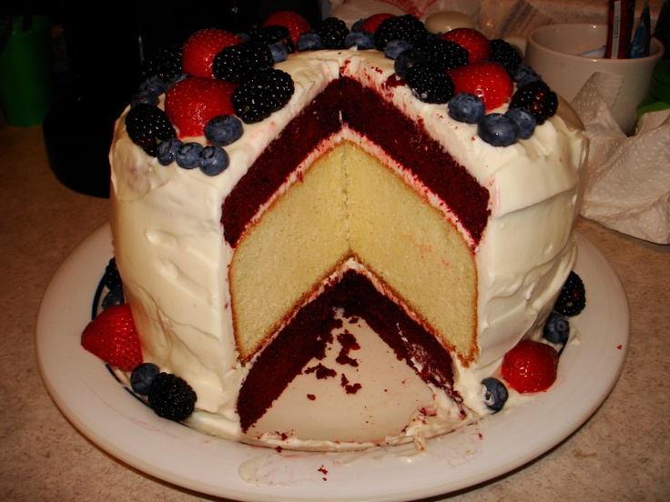 Glorious Red, White, and Blue Cake | Recipe
