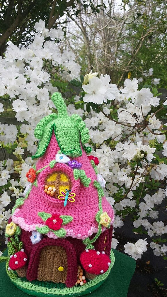 Handmade Crochet Fantasy Fairy Or Gnome House OOAK от emcrafts
