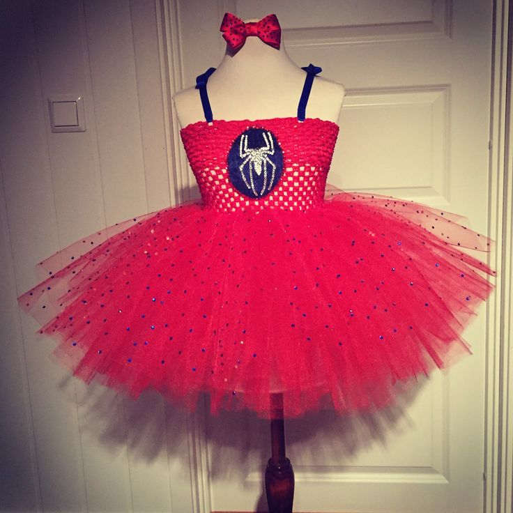 Spiderman dress costume prinsess tutu
