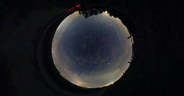 国際宇宙ステーションが全天360度を通過するインタラクティブ映像。 ISS transit in Austria by project nightflight