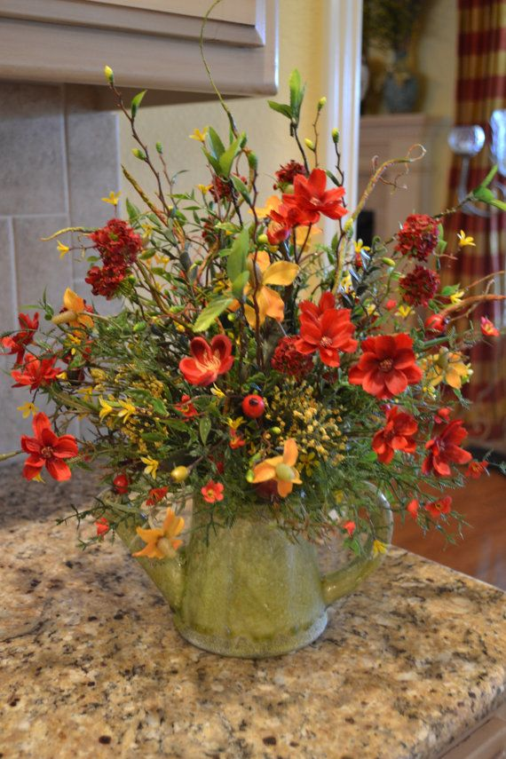 17 best images about floral arrangements all seasons on for Fall fake flower arrangement ideas