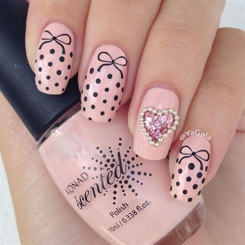 Cute Nails by Yagala - Nail Art Gallery nailartgallery.nailsmag.com by Nails Magazine www.nailsmag.com #nailart