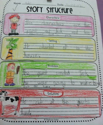 First Grade Fabulous Fish: Jack and the Beanstalk - FROM LAST SCHOOL YEAR
