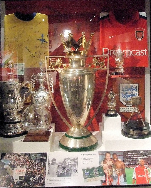 One of the trophy cabinets at...