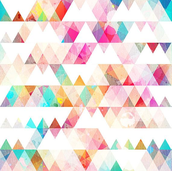 This Multi-colored Geometric wallpaper is Specially Designed and Custom Made to fit almost Any Size of Your Walls! As a great revolution of