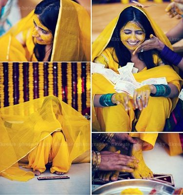 Real Couples and their Colourful Haldi Moments - BollywoodShaadis.com - Page 2