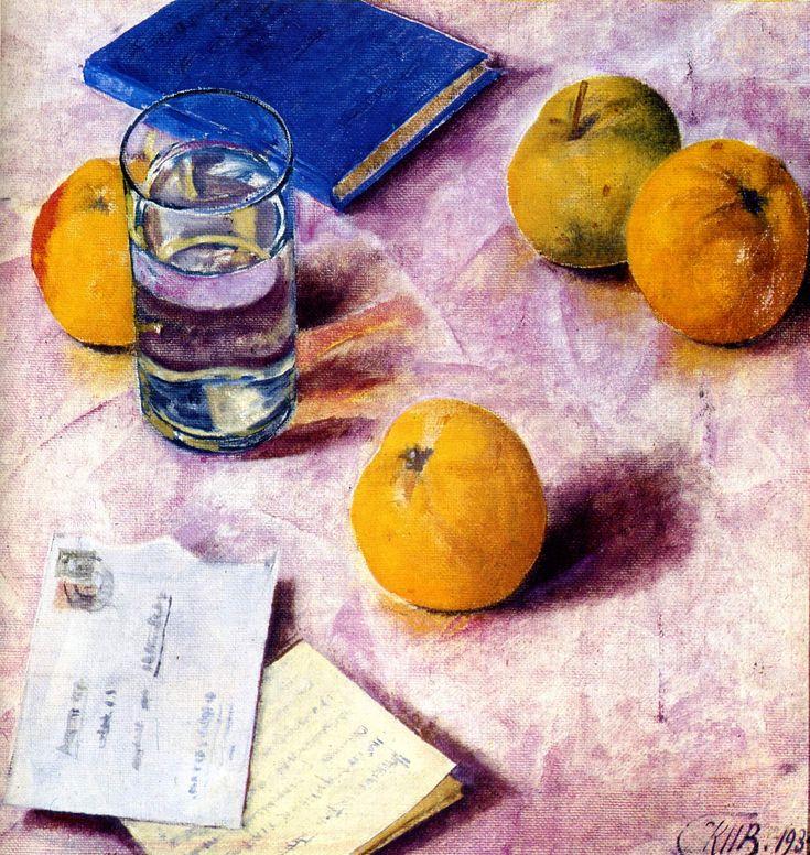 The Athenaeum - Still Life with Fruit (Kuzma Petrov-Vodkin - )
