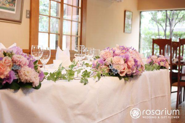 ロザブロ  ウェディングとギフトのお花とワタシ-会場装花