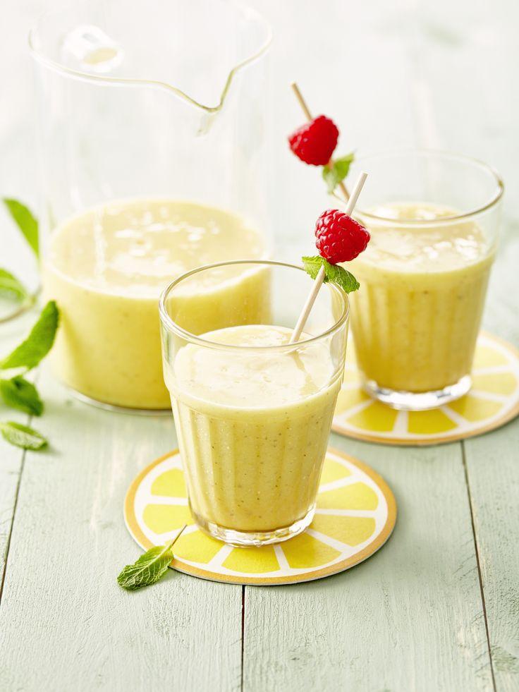 Een zoete smoothie met een lekker pittige toets. Je vindt zonder twijfel weer nieuwe energie terug na het drinken van dit zachte drankje.