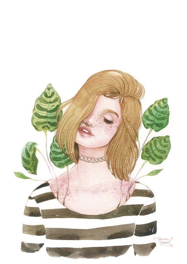 Juliana Rabelo cria ilustrações em aquarela que transbordam sensibilidade e mostram a beleza do universo feminino - Follow the Colours