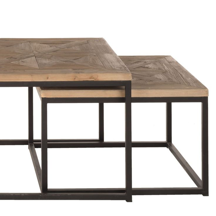 Exceptional Table Basse Metal Bois #8: Beau Table Basse Metal Bois