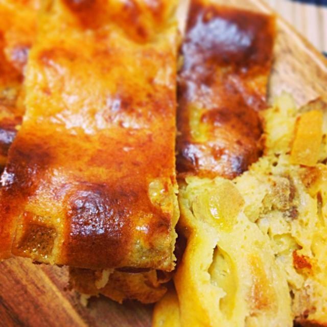 チーズと柿はあうね!クリチは高いけど、スライスチーズでも手軽に美味しくコクがでるよ! - 44件のもぐもぐ - スライスチーズの柿ケーキ! by MALONERIKO