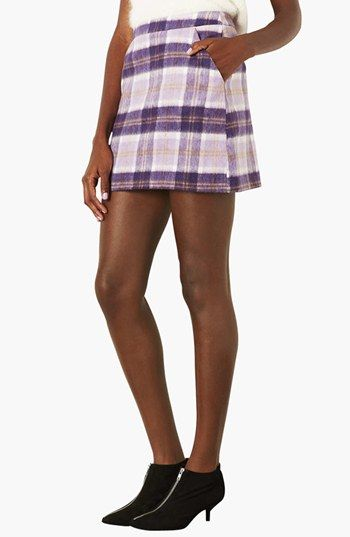 Topshop Checkered A-Line Skirt