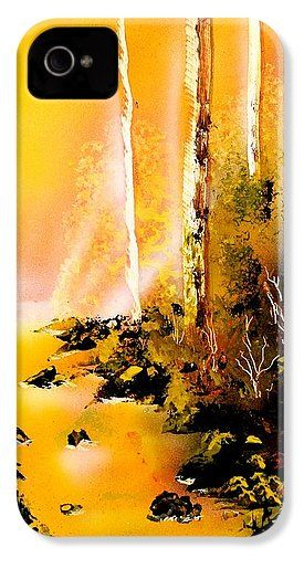 Yellow River IPhone 4 / 4s Case Printed with Fine Art spray painting image Yellow River by Nandor Molnar (When you visit the Shop, change the orientation, background color and image size as you wish)