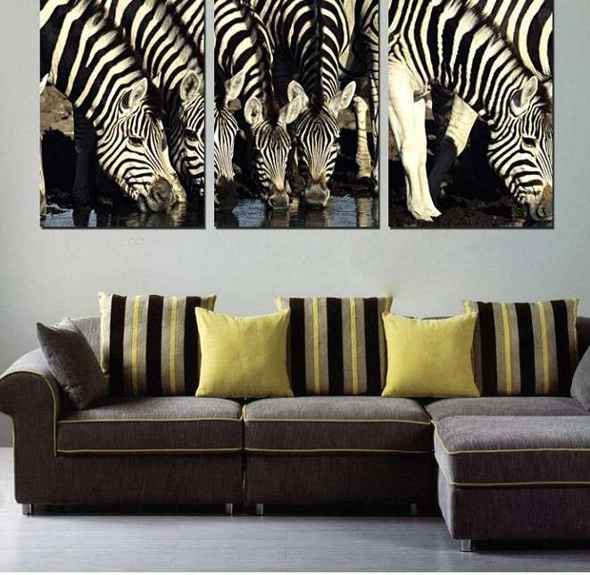 Zebra Home Accessories: Awesome Zebra Home Decor Wall Painting