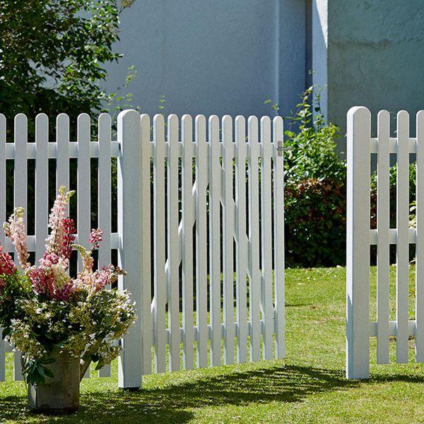 Klassischer Holz Gartenzaun 120cm Mit Gerundeten Holzlatten Schlichter Weisser Zaun Tore Mit Nostalgischer Anmutung Kauf A Gartenzaun Holz Gartenzaun Zaun