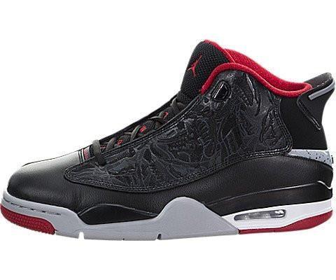 Nike Jordan Men's Air Jordan Dub Zero Black/Gym Red Wolf Grey White  Basketball Shoe