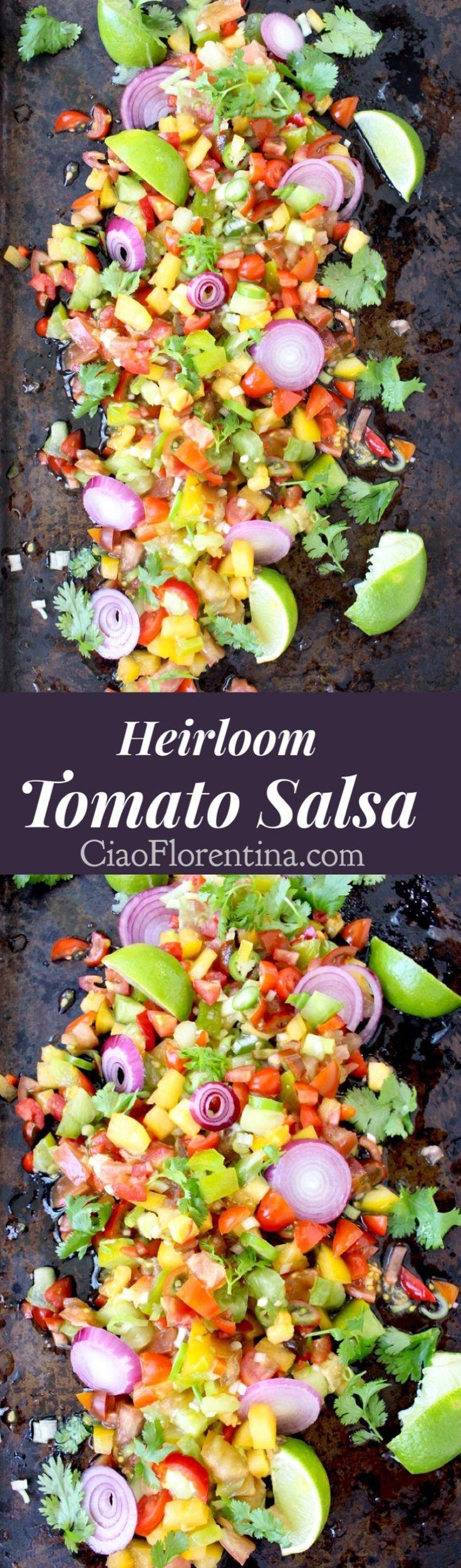 Fresh Tomato Salsa Recipe ( Salsa Fresca ) | CiaoFlorentina.com @CiaoFlorentina