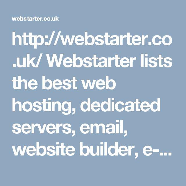 http://webstarter.co.uk/  Webstarter lists the best web hosting, dedicated servers, email, website builder, e-commerce website, ssl security, domain name registration and vps hosting