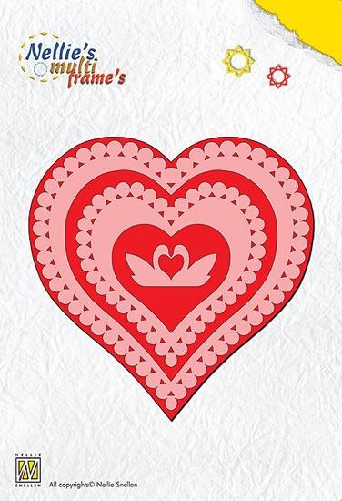 Nellie Snellen Multi Frame Dies - Heart