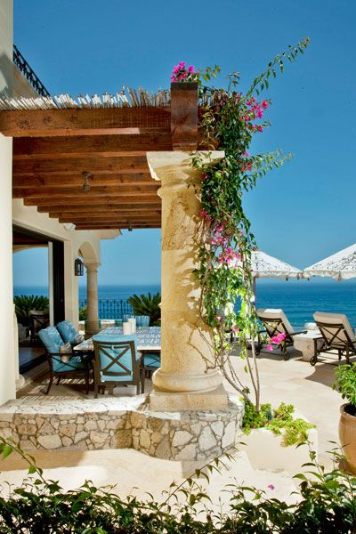 Mediterranean Style Patio - I could wake up to this view every day:)  Really:)