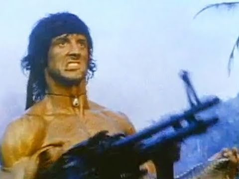 When I see Sly Stallone, I think of him as Frank Stallone's brother. Because Frank is my Stallone of choice I don't watch many of Sly's movies, but Rambo is too good not to love. Rambo 2, First Blood Part II - Official Trailer