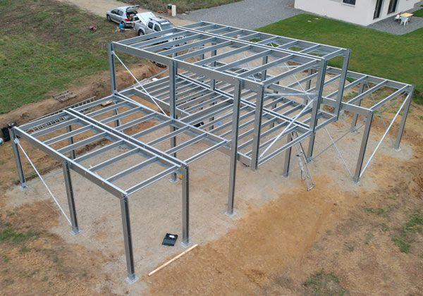 Les 25 meilleures id es concernant construction m tallique sur pinterest st - Maison structure metallique prix ...