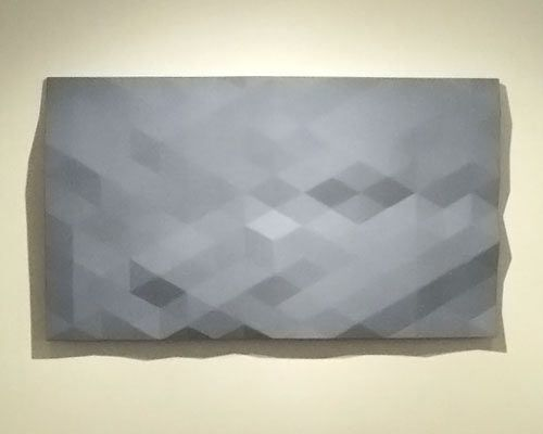 """Kern River/10"" by Rupert Deese. Monochromatic relief sculptures."