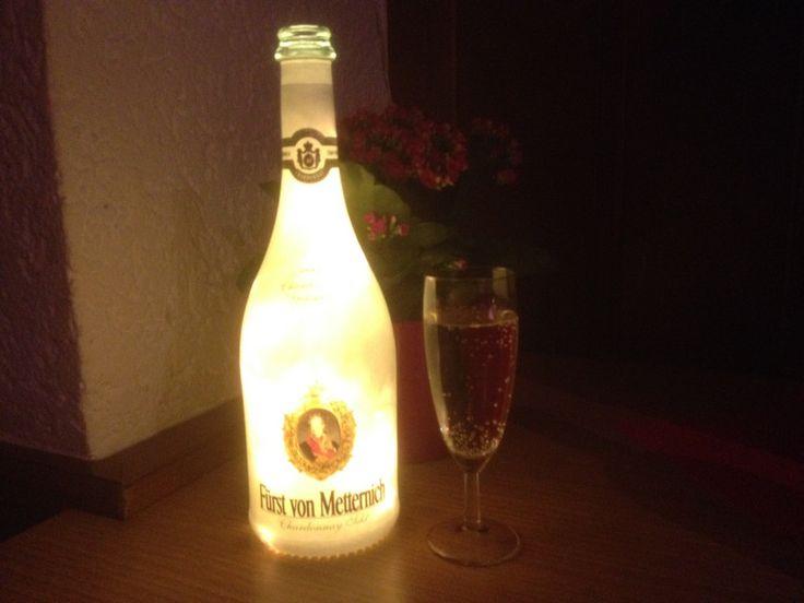 Fancy F rst von Metternich Flaschen Lampe LED s