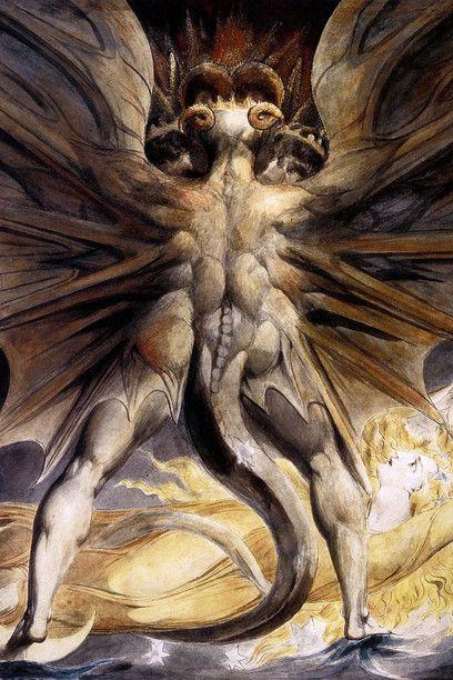 William Blake - Il Grande Drago Rosso e la donna vestita col sole