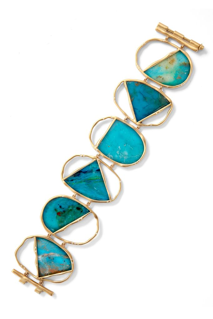 Bracelet    Monique Pean.  From her Spring 2012 collection.  Opals and gold