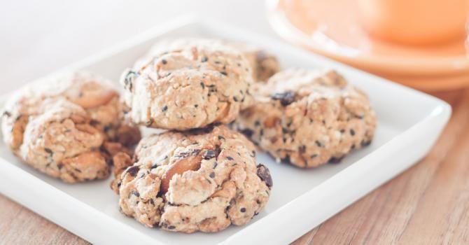 Recette de Cookies multi-grains sans beurre ni huile pour petit déjeuner complet détoxifiant. Facile et rapide à réaliser, goûteuse et diététique.