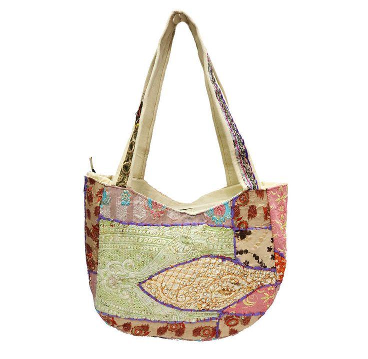 Handmade Bags Indian Patchwork Ethnic Cotton Bags Vintage Shoulder Shopping Bag #Handmade #ShoulderBags