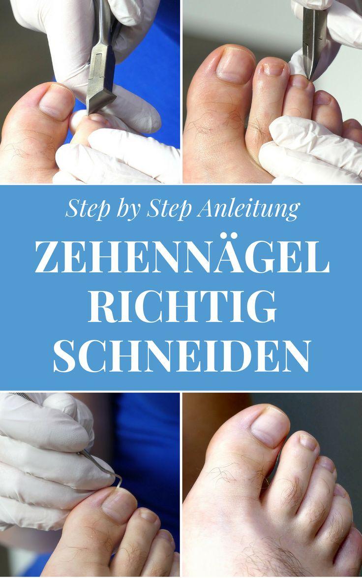Step by Step Anleitung um deine Zehennägel richtig zu schneiden.