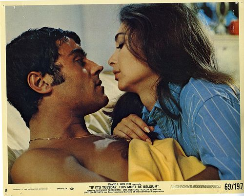 Here are two gorgeous people: Ian McShane & Suzanne Pleshette in 'If It's Tuesday This Must be Belgium' 1969 by mcshanebest, via Flickr