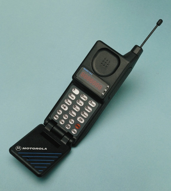 Motorola introduces the Motorola MicroTAC Personal Cellular Telephone, then the world's smallest mobile phone.