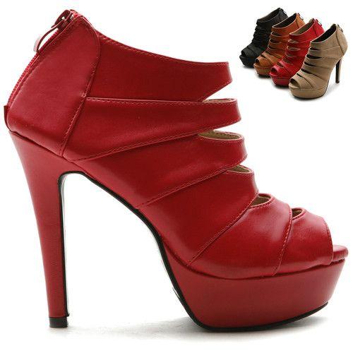 ollio Womens Stilettos Shoes Open Toe Platforms Pumps Multi Colored