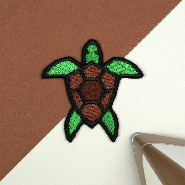 Turtle Embroidered Iron Sew On Patch Applique Crafts Embroidery T Shirt Badge
