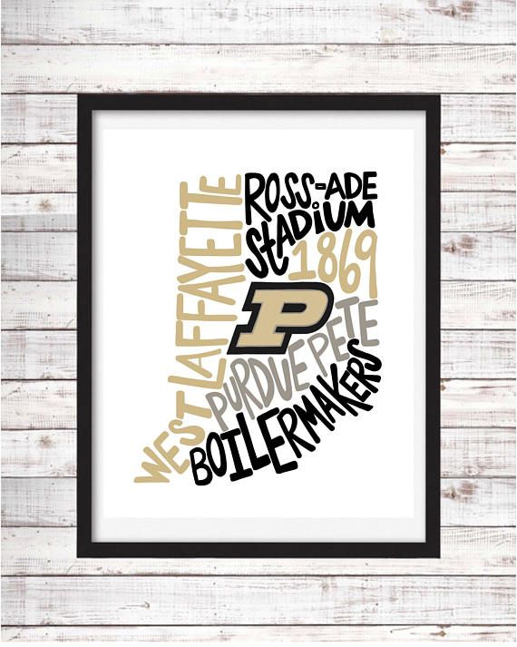 Purdue University Printable Art College Student Gift College Graduation Dorm Room Decor Wall Art Wall Dec University Gifts Purdue Purdue University